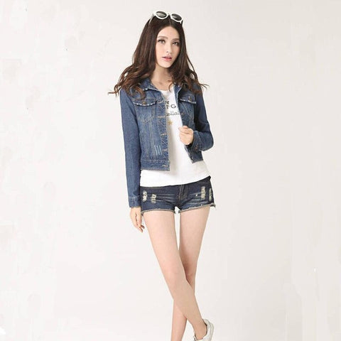 Denim Plus Size Long-Sleeve Cardigan Jacket, Jackets, Stylenol- Stylenol