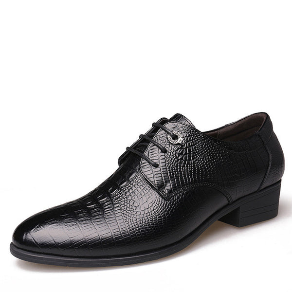Men Genuine Leather Flats Business Dress Shoes, Men Shoes, Stylenol- Stylenol