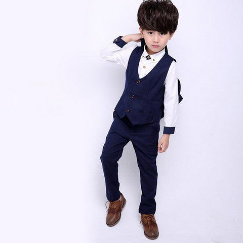 4 Pcs/Set New Boys Formal Suit, Boys Suits, Stylenol- Stylenol