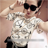New Short Sleeve Casual T-Shirt, Women T-Shirts, Stylenol- Stylenol