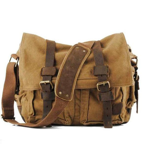 Men Leather Crossbody Vintage Messenger Bag, Messenger Bags, Stylenol- Stylenol