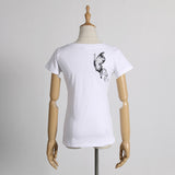 New V-Neck Short Sleeve Slim T-Shirt, Women T-Shirts - Stylenol