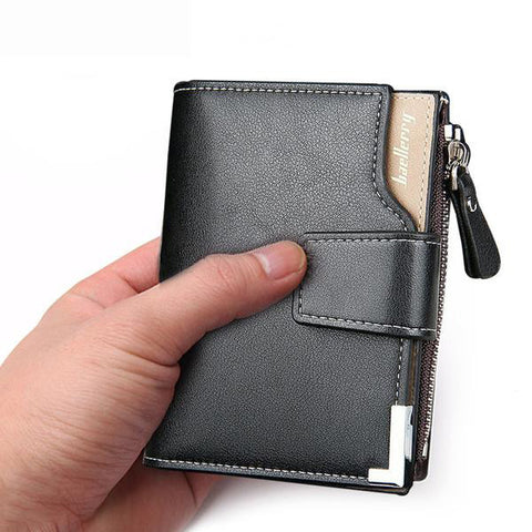 Men Leather Short Clutch Wallet, Wallet, Stylenol- Stylenol
