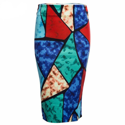Floral Flower Print Pencil Hip Slim Skirt, Skirts, Stylenol- Stylenol