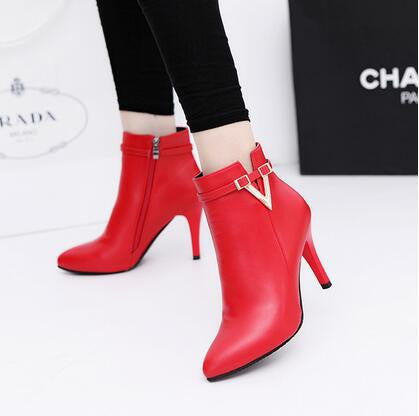Women Stiletto Thin High Heels Pointed Toe Boots, Boots - Stylenol