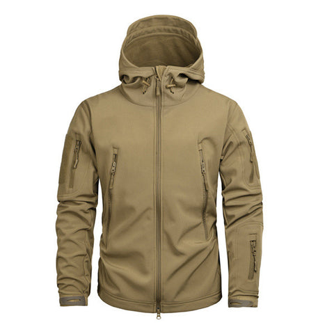 New O-Neck Polyester High Grade Military Tactical Sharkskin Men Jacket, Men Jackets, Stylenol- Stylenol