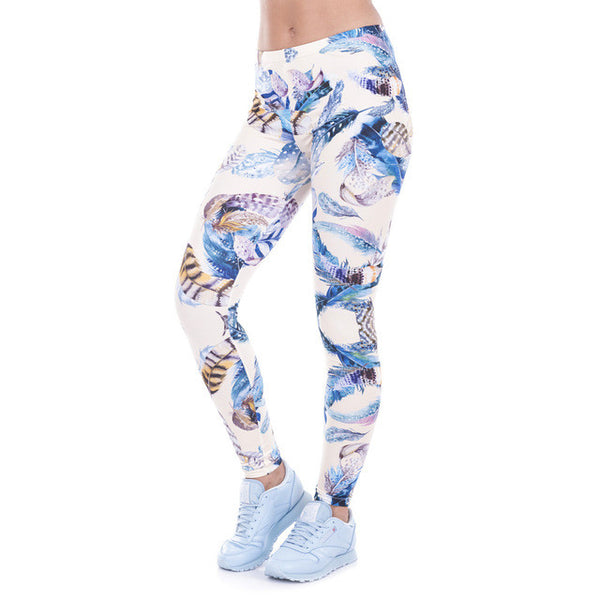 Wild Dots Print Stretch Leggings, Leggings - Stylenol