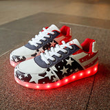 Girls USB Glowing Luminous Light Up Sneakers, Girl Shoes, Stylenol- Stylenol