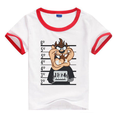 Fashion Unisex Kids Short Sleeve Cartoon Character Print T-Shirt Tees, T-Shirt, Stylenol- Stylenol