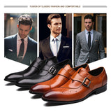 New Genuine Leather Brogue Shoes, Men Shoes, Stylenol- Stylenol