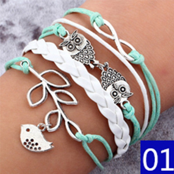 Women New Infinite Double Leather Multilayer Bracelet, Bracelets, Stylenol- Stylenol