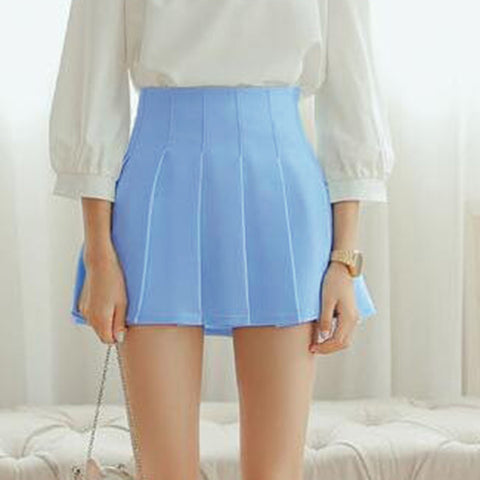 Elegant Half Pleated Mini Skirt, Skirts, Stylenol- Stylenol