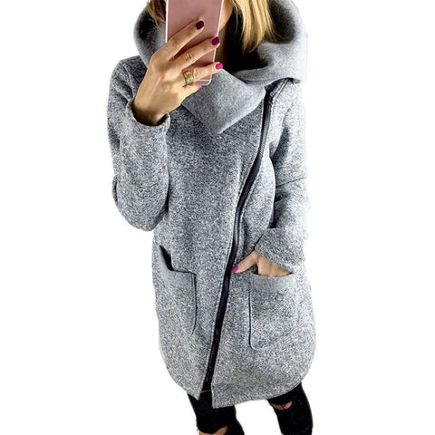 New Thick Long Casual Hooded Jacket, Jackets - Stylenol