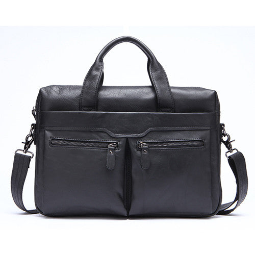 Men Genuine Leather Crossbody Casual Messenger Bag, Messenger Bags, Stylenol- Stylenol