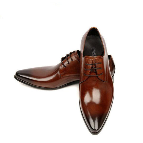 Men Italian Leather Luxury Formal Office Dress Shoes, Men Shoes, Stylenol- Stylenol