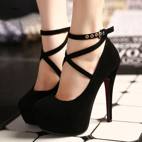 Women Extreme High Heels Wedge Pumps Shoes, Pump Shoes - Stylenol