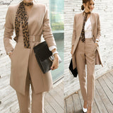 2 Pcs Set Formal Blazer Jacket Suits Set, Suits, Stylenol- Stylenol