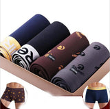 4 Pcs lot New Printed Cotton Boxer Comfortable Men Underwear, Men Underwear, Stylenol- Stylenol