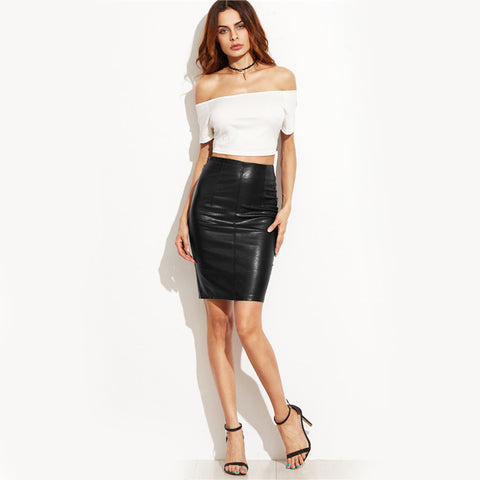 New Leather High Street Midi Skirt, Skirts, Stylenol- Stylenol