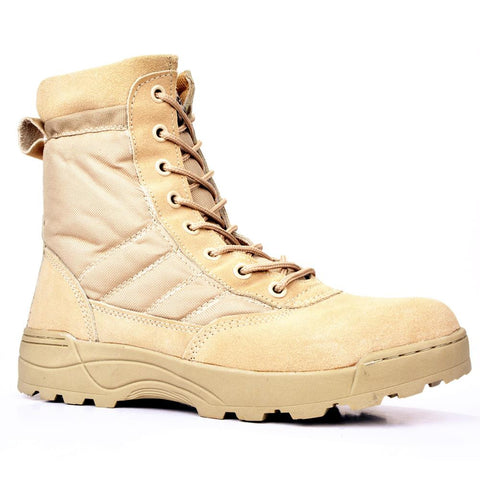 Men New Leather Infantry Military Tactical Boots, Men Boots, Stylenol- Stylenol