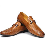 Men Genuine Leather Italian Round Toe Dress Shoes, Men Shoes, Stylenol- Stylenol
