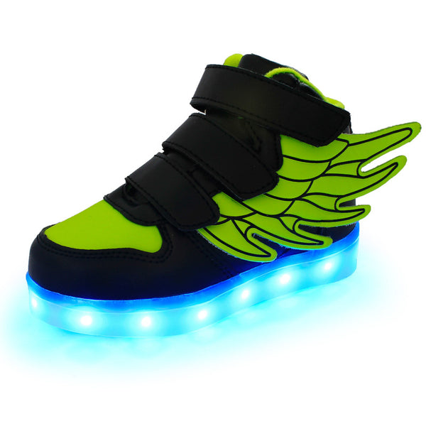 Unisex New Angel Wings LED Luminous Sneakers, Kids Shoes - Stylenol