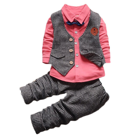 3 Pcs/set Bows Vest Formal Tracksuit, Boys Suits, Stylenol- Stylenol