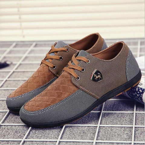 Men Flats Leather Casual Shoes, Men Shoes, Stylenol- Stylenol