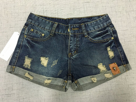 New Vintage Low Waist Denim Shorts without Belt, Shorts - Stylenol
