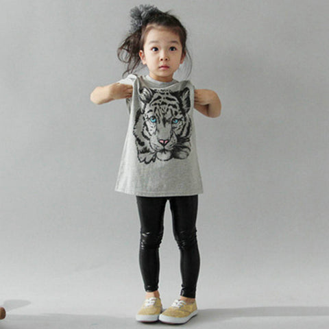 Girls  2-7 Kids Printed Casual Cotton T-Shirts, , Stylenol- Stylenol