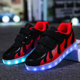 Unisex LED USB Charging Luminous Infant Casual Shoes, Kids Shoes, Stylenol- Stylenol