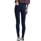 Thin High Elastic Waist Denim Leggings, Leggings - Stylenol