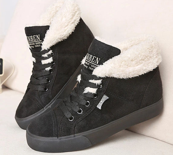 New Women Fur Warm Ankle Boots, Boots - Stylenol