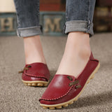 Women Leather Peas Non-Slip Casual Shoes, Women Shoes - Stylenol