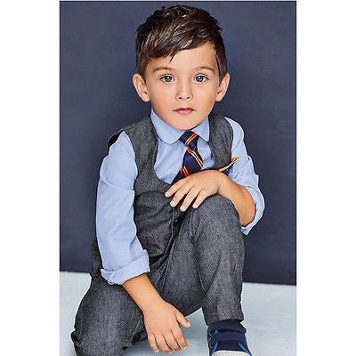 4 Pcs/Set Boys Formal Wear Suit Set, Boys Suits, Stylenol- Stylenol
