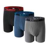 3 Pcs Solid Cotton Plus Size Underwear, Men Underwear, Stylenol- Stylenol