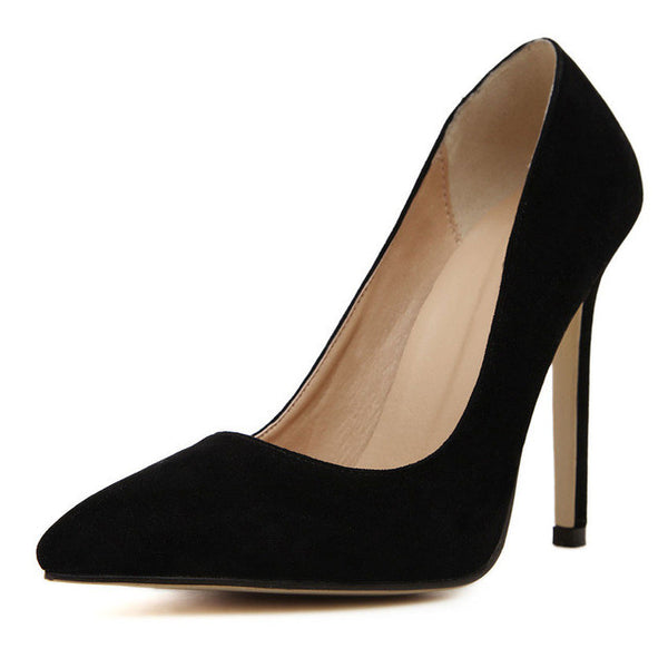 Women New Plus Size High Heels Pointed Toe Shoes, Pump Shoes - Stylenol
