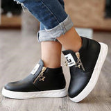 Girl New Flats Breathable Zip Casual Shoes, Girl Shoes, Stylenol- Stylenol