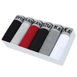 6 Pcs/lot Soft Solid Breathable Boxer Underwear, Men Underwear, Stylenol- Stylenol