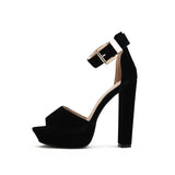 Women Ultra Thin High Heel Open Toe Pump Shoes, Pump Shoes - Stylenol