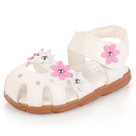 Girl Flower Soft Causal Flat Baby Sandals, Girl Shoes, Stylenol- Stylenol