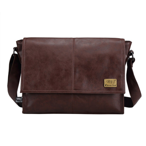 Men Leather Solid Soft Messenger Bag, Messenger Bags, Stylenol- Stylenol