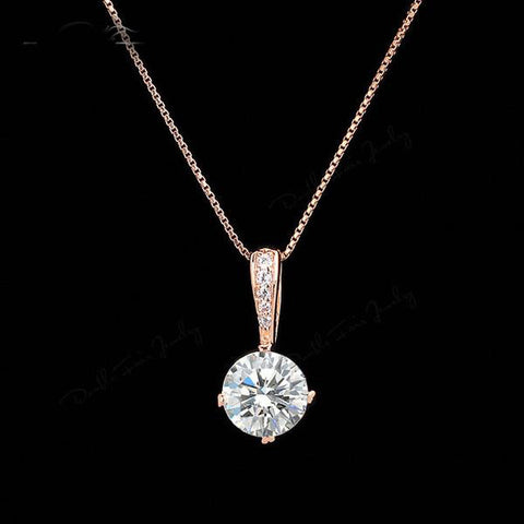 Women Crystal Zirconia Chain Necklace, Necklaces, Stylenol- Stylenol