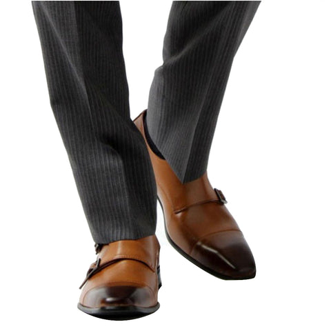 Men Genuine Leather Formal Business Dress Buckle Strap Shoes, Men Shoes, Stylenol- Stylenol