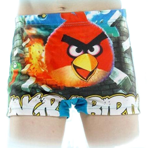 New Cute Skinny Elastic Waist Cartoon Print Boys Swimwear Short, Boys Shorts, Stylenol- Stylenol
