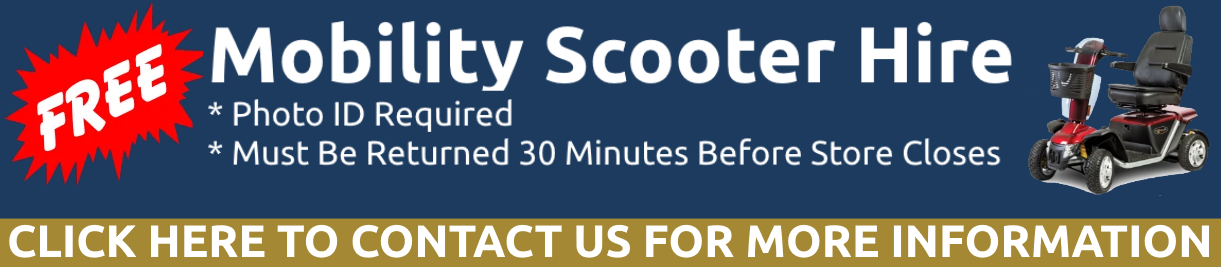Mobility Scooter Hire Available!