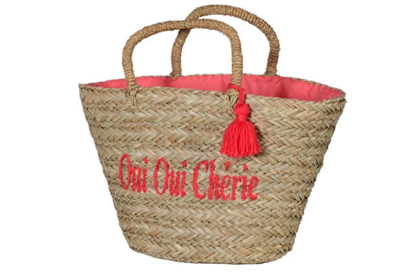 'Oui Oui Cherie' Basket Bag