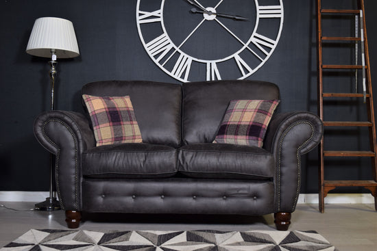 County 2 Seater Sofa - Rodeo Charcoal Grey