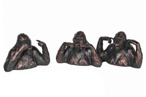 Set of 'See No Evil' Gorillas