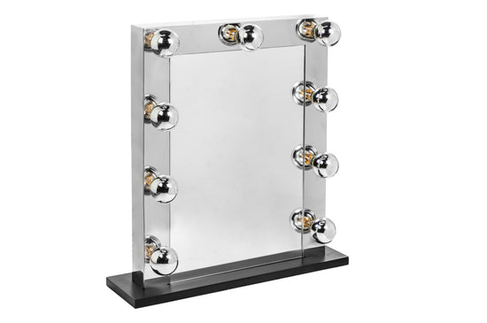 Large Chrome Hollywood Table Mirror
